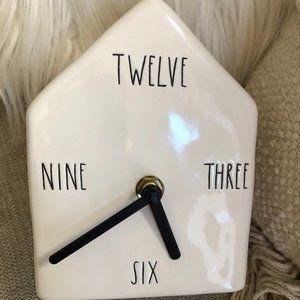 Rae Dunn birdhouse Clock NWT